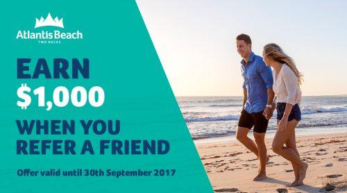 Atlantis Beach $1,000 Referral Scheme